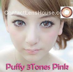 Puffy 3Tones - Pink color cosmetic contact lens. | Shop @ ContactLensHouse.com