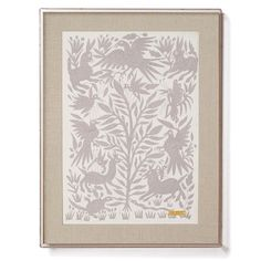 Grey Otomí - Statement Framed Textile
