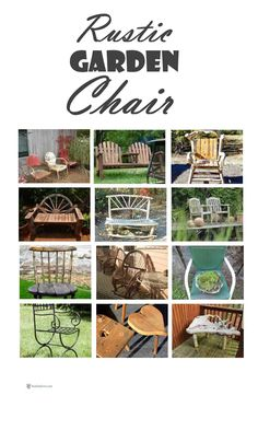 Rustic Garden Chair - sometimes they're too fragile to sit on, so put a pot of plants on to display it. Garden Junk, Garden Art, Rustic Gardens, Outdoor Gardens, Organic Gardening Magazine, Rustic Crafts, Garden Theme, Garden Chairs, Gardening For Beginners