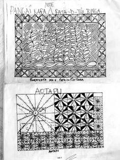 Tongan Patterns  via Lili's Bookbinding Blog   Where I can share Bookbinding, Printmaking, Art, and Visually Pleasing Things