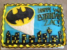 Batman Cake and Cupcakes