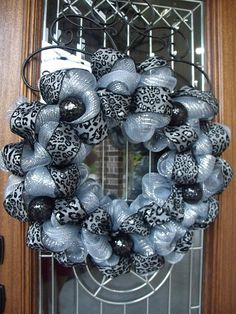 Glam wreath. def having my mom teach me how to do this