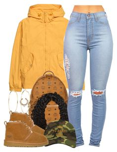 A fashion look from February 2017 featuring HM, UGG ankle booties and MCM backpacks. Browse and shop related looks. Cute Swag Outfits, Dope Outfits, Teen Fashion Outfits, Outfits For Teens, Trendy Outfits, School Outfits, Trendy Fashion, Fashion Models, Winter Fits