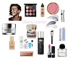 """""""beauty wish list winter 2016-2017"""" by claudiaaaa-ii on Polyvore featuring beauty, Byredo, GlamGlow, Estée Lauder, MAC Cosmetics, Urban Decay and Christian Dior"""