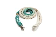 SALE 5 FT Teal Ombre Leash | GTO / All Natural Handmade Pet Accessories