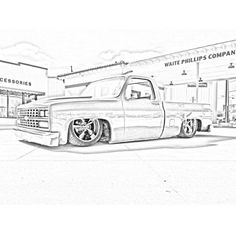 87 Chevy Truck, Classic Chevy Trucks, Chevy C10, Chevy Tattoo, Truck Tattoo, Cars Coloring Pages, Colouring Pics, Gm Trucks, Cool Trucks
