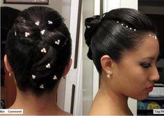 Amazing Ballroom Hair Bangs And Makeup On Pinterest Short Hairstyles Gunalazisus