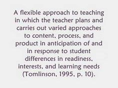 A great wiki on differentiation with resources on everything from choice boards to learning contracts.