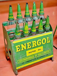 Original Energol motor oil bottle rack