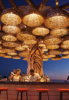 Hidden views of Pacific waves, majestic fireworks, or classic tequila sunsets are an elevator ride away. Outdoor Restaurant Design, Deco Restaurant, Rooftop Restaurant, Restaurant Interior Design, Rooftop Bar, Coffee Shop Interior Design, Coffee Shop Design, Cafe Design, Rooftop Design