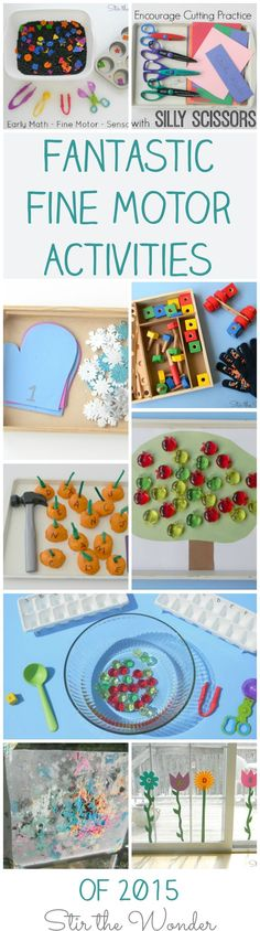 Fantastic Fine Motor Activities of 2015 from Stir the Wonder
