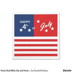 Party And BBQ July 4th Party Paper Napkins