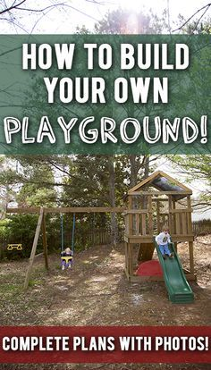 Build your own wood swingset/playset for your kids! Complete diagrams and step-by-step pics! For around $300!