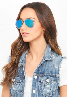 Ray-Ban Aviator Large Metal 58mm Sunglasses in Blue | #Chic Only #Glamour Always