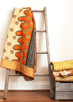 Vintage Kantha Quilt by SoulMakes