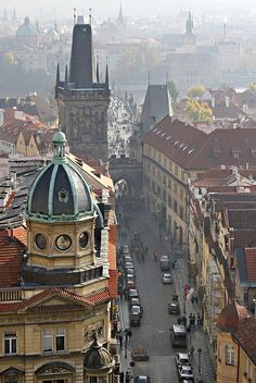 View from Saint Nicholas tower, Prague, Czech Republic