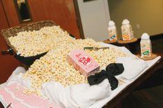 Baseball Wedding Popcorn Bar