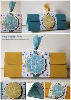 Stampin' up! Triangle Box, DSP Moonlight - Fine Paper Arts