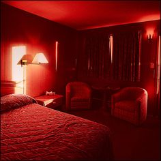 Light red aesthetic red light bedroom red light bulb in bedroom red light b Aesthetic Bedroom, Red Aesthetic, Neon Noir, Red Light District, Red Rooms, Neon Lighting, Shades Of Red, My Favorite Color, Decoration