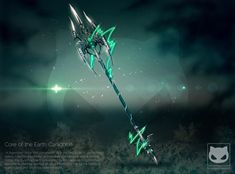 Weapon Design Commission - Caradhras by KodamaCreative lance trident energy lightning equipment gear magic item   Create your own roleplaying game material w/ RPG Bard: www.rpgbard.com   Writing inspiration for Dungeons and Dragons DND D&D Pathfinder PFRPG Warhammer 40k Star Wars Shadowrun Call of Cthulhu Lord of the Rings LoTR + d20 fantasy science fiction scifi horror design   Not Trusty Sword art: click artwork for source