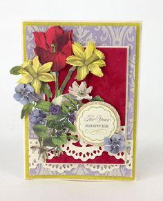© Anna Griffin, Inc. Beautiful Bouquet Die Cuts