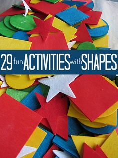 29 Fun Shape Activities for Kids Preschool Colors, Preschool Learning, Toddler Activities, Preschool Activities, Kids Learning, Activities For Kids, Crafts For Kids, Preschool Shapes, Spanish Activities