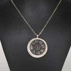 Beautiful vintage button pendant necklace by CarolsThreads on Etsy