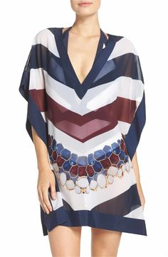 c7c611b80c1376 Main Image - Ted Baker London Rowing Stripe Cover-Up Tunic Swimsuit Cover  Ups