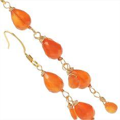 Carnelian Drop Earrings - Beading Projects & Tutorials - Beading Resources   Beadaholique