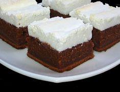 Csokoládékocka habcsókkal, csodás finomság és nagyon könnyen elkészíthető! - Ketkes.com Sweets Recipes, Cooking Recipes, Romanian Food, Hungarian Recipes, Four, Cake Cookies, Cake Decorating, Bakery, Cheesecake