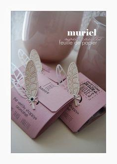 Feuille de Papier - Paquet pour sachet de thé par Muriel:  17-03-2014