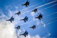 """Russian Knights"" and ""Swifts"""