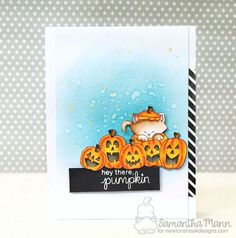 Halloween Pick of the Patch cat card by Samantha Mann | Newton's Boo-tiful Night Stamp set by Newton's Nook Designs #newtonsnook #halloween