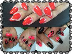 Nail Art Red and Black by Stella Nails di Alice Conventi