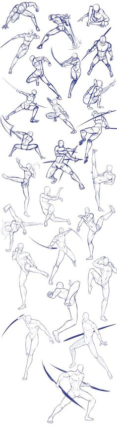 Battle/action poses by Antarija on DeviantArt - Body positions, weapons, fighting, swords; How to Draw Manga/Anime - Anatomy Drawing, Manga Drawing, Drawing Sketches, Art Drawings, Drawing Tips, Drawing Ideas, Sketching, Body Sketches, Gesture Drawing