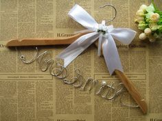 Bride Wedding Hanger, Bridal Wire Hanger, Personalized Name Hanger, Custom Mrs Hanger, Bridesmaid Hangers