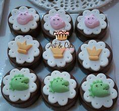 Mine brownie temáticos  Peppa Pig