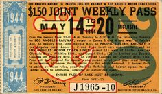 LA Transportation: Joint Weekly Pass, May 14-20, 1944