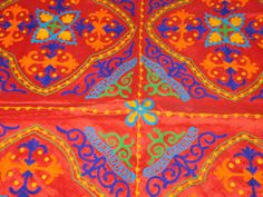 INDIAN VELVET WALL HANGING HAND EMBROIDERY TAPESTRY PATCHWORK TABLE THROW AX10 #Handmade #ArtDecoStyle