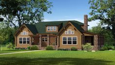 """""""The Morris"""" is one of the many log cabin home plans from Southland Log Homes. You can customize the Morris to meet your exact needs with our free design tools."""