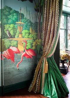 4 of Our Favorite Spaces From the 2017 Kips Bay Decorator Show House - Drapery design by Ken Fulk featuring Samuel & Sons trim.