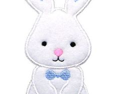 Easter Bunny Applique Easter Applique Bunny by GardenofDaisies Embroidery Files, Floral Embroidery, Machine Embroidery Designs, Easter Bunny, Easter Eggs, Computerized Embroidery Machine, Easter Flowers, Hello Kitty, Applique
