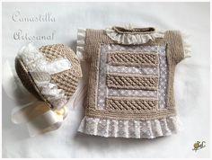 Raspberry stitch, garter, valenciennes lace ~~ CANASTILLA ARTESANAL