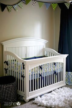 Check out this custom nursery. Perfect for a small space!