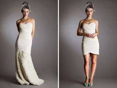 Removable Skirt Bridal Gown