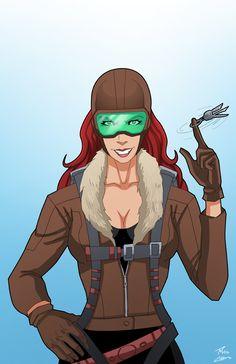 Roxy Rocket by phil-cho on DeviantArt Superhero Characters, Dc Characters, Marvel Vs, Marvel Heroes, Comic Book Guy, Hugo Strange, Teenage Ninja Turtles, Mundo Comic, Batman Comics