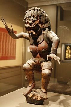 Rangda w Flaming Vagina; carved and painted wood, SF Asian Art Museum.