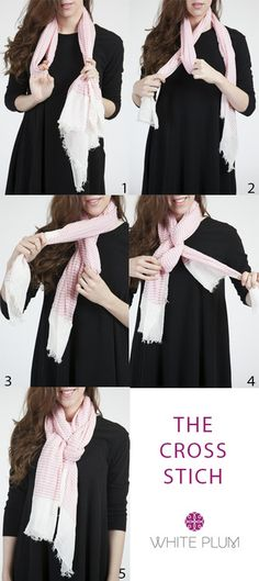 The Cross Stitch scarf tying