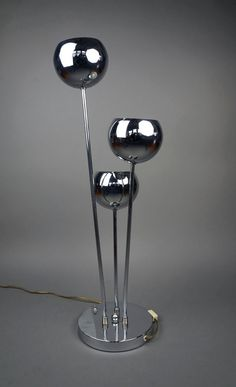 Mid Century Modern Torino Lamp Floor Chrome Silver Standing Lamp Floor Table Desk Lamp Plastic Retro