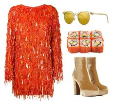 """""""Untitled #589"""" by lbenigni ❤ liked on Polyvore featuring Ashish, Oliver Peoples and Gianvito Rossi"""
